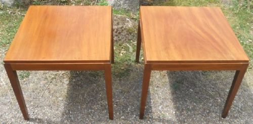 Pair Mahogany Lamp Tables